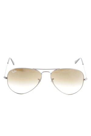 Ray Ban Pilot Brille silberfarben Casual-Look