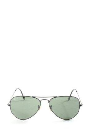 Ray Ban Pilot Brille silberfarben-grün Casual-Look
