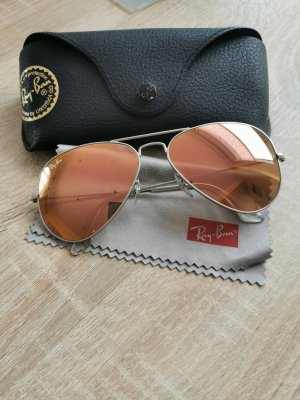 Ray Ban Piloten Sonnenbrille Large Rosa Silber
