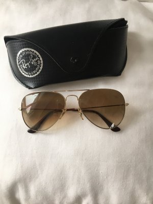 Ray Ban Pilotenbrille Aviator , brauner Verlauf der Gläser + Diamandschliff
