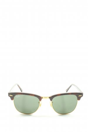 Ray Ban Retro Brille braun Leomuster Casual-Look