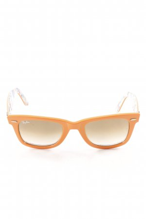 Ray Ban Retro Brille hellorange Casual-Look