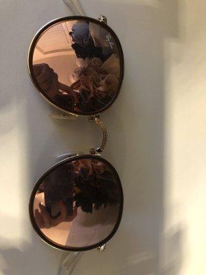 Ray Ban Gafas de sol redondas color oro
