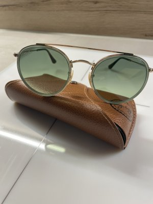 Ray Ban Round Double Bridge, grün-gold