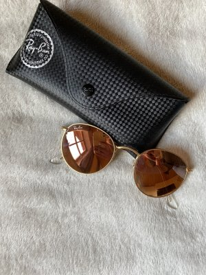 Ray Ban Round Sunglasses rose-gold-coloured-gold-colored