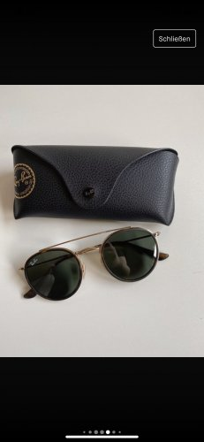 Ray Ban Round Sunglasses olive green-gold-colored