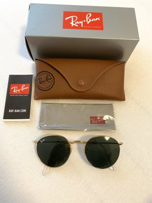 Ray Ban Round Sunglasses dark green-gold-colored