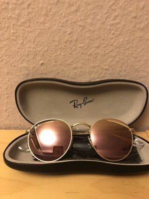 Ray Ban round rose gold