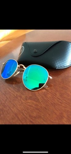 Ray Ban Glasses gold-colored-steel blue