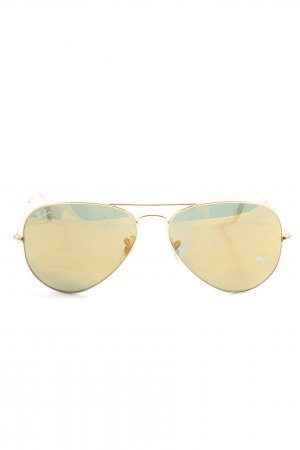 Ray Ban Ronde zonnebril goud casual uitstraling