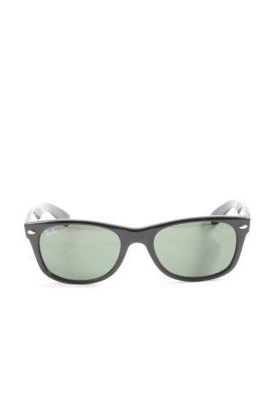 Ray Ban runde Sonnenbrille schwarz Casual-Look