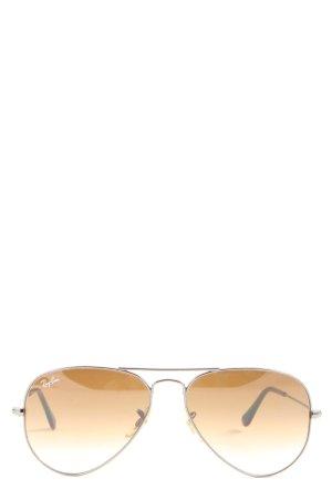 Ray Ban runde Sonnenbrille braun-schwarz Casual-Look