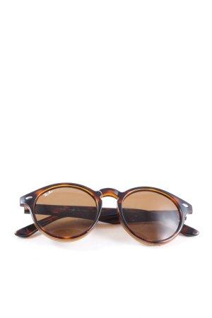 Ray Ban Gafas de sol redondas marrón-nude look casual