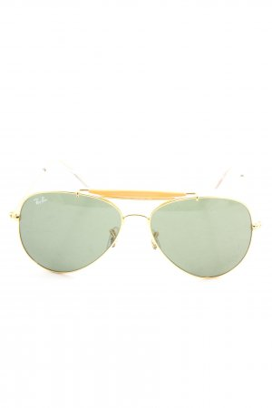 Ray Ban Pilot Brille goldfarben-grün Casual-Look