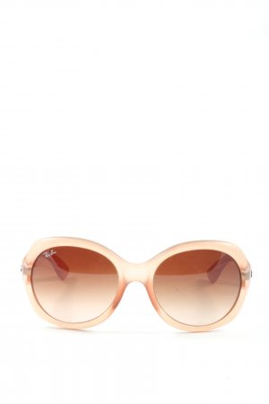 Ray Ban Gafas de sol redondas crema estilo «business»