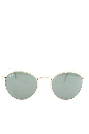 Ray Ban Okrągłe okulary przeciwsłoneczne zielony-złoto Elegancki