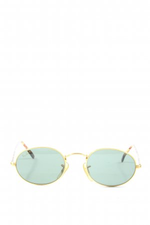 Ray Ban runde Sonnenbrille goldfarben-braun Casual-Look