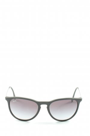 Ray Ban Round Sunglasses black casual look