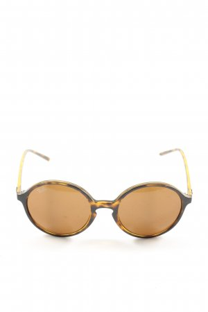 Ray Ban runde Sonnenbrille Allover-Druck Casual-Look