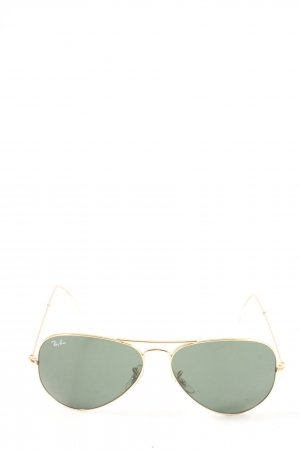 Ray Ban Gafas de sol redondas color oro look casual