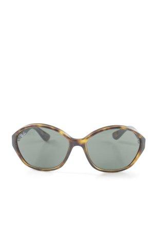 Ray Ban runde Sonnenbrille schwarz-hellorange Farbverlauf Casual-Look