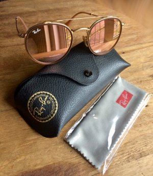Ray Ban Glasses light brown-gold-colored metal