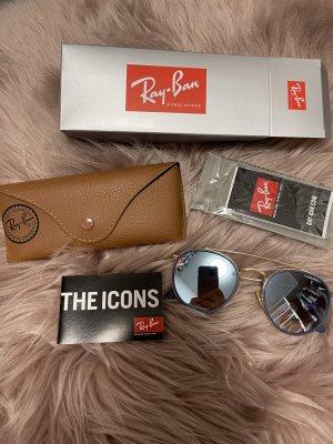 Ray Ban Okrągłe okulary przeciwsłoneczne złoto-szary