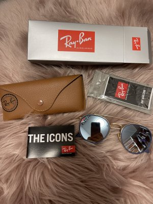 Ray Ban Round Sunglasses gold-colored-grey