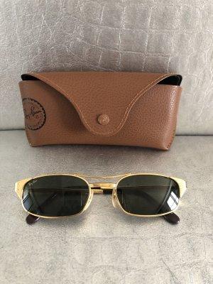 Ray Ban Oval Sunglasses sand brown metal