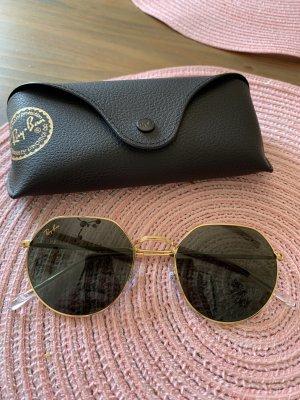 Ray Ban Gafas de sol redondas verde-color oro