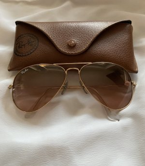 Ray Ban Aviator Glasses light brown-gold-colored