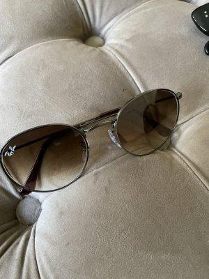 Rayban Gafas de sol redondas marrón grisáceo