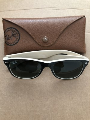 Ray Ban Angular Shaped Sunglasses black-cream