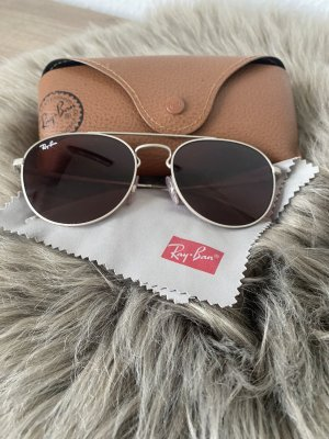 Ray Ban Aviator Glasses bordeaux-brown red