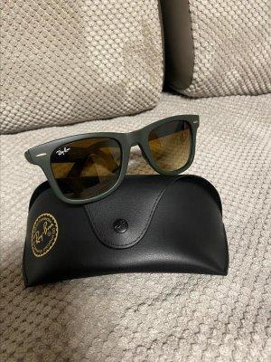 Ray Ban Kwadratowe okulary przeciwsłoneczne khaki