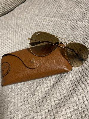 Ray Ban Owalne okulary przeciwsłoneczne brąz