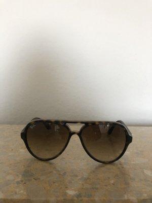 Ray Ban Lunettes de soleil rondes brun foncé