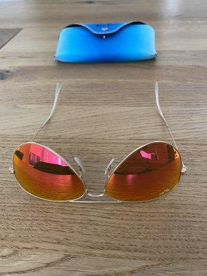 Ray-Ban Sonnenbrille Aviator, orange/Gold