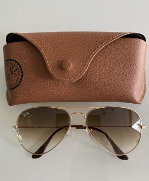 Ray Ban Aviator Glasses brown