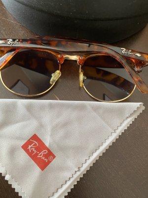 Ray Ban Sonnenbrille Clubmaster braun / grün