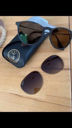 Ray Ban Gafas de sol ovaladas marrón oscuro