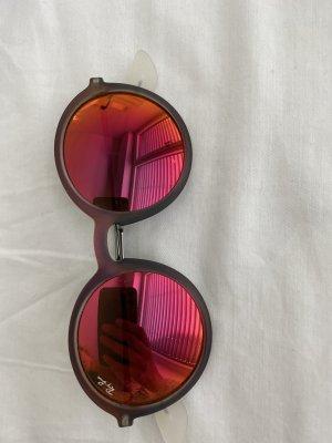 Ray Ban Sonnenbrille Rund orange verspiegelt