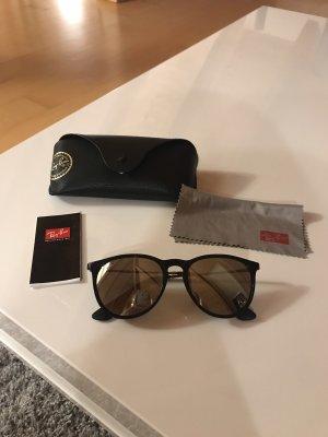 Ray Ban Sonnenbrille schwarz/silber verspiegelt