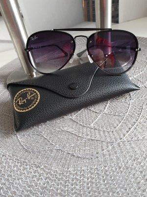 Rayban Occhiale da sole ovale nero-argento