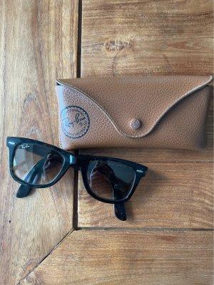 Ray Ban Gafas de sol cuadradas marrón-negro-marrón claro