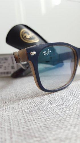 Ray Ban Owalne okulary przeciwsłoneczne ciemnoniebieski-szary Włókno octanowe