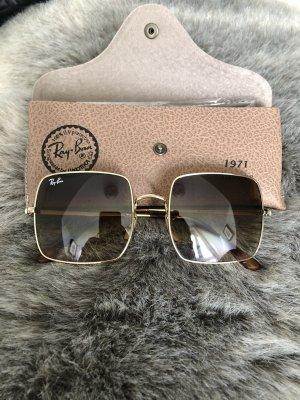Ray Ban Gafas cuadradas marrón claro-color oro