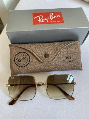 Ray Ban Angular Shaped Sunglasses beige-camel