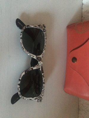 Ray Ban Hoekige zonnebril zwart-wit