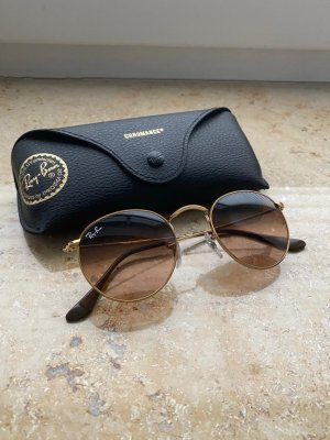 Ray Ban Ronde zonnebril goud-bruin